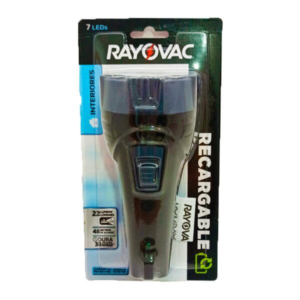 Linterna rayovac recargable 7 LED